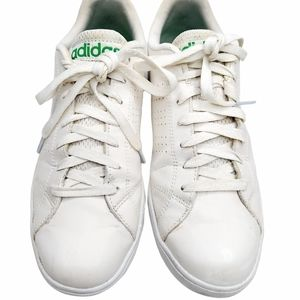 Adidas Neo Size 8 Sneakers White with Green stripe